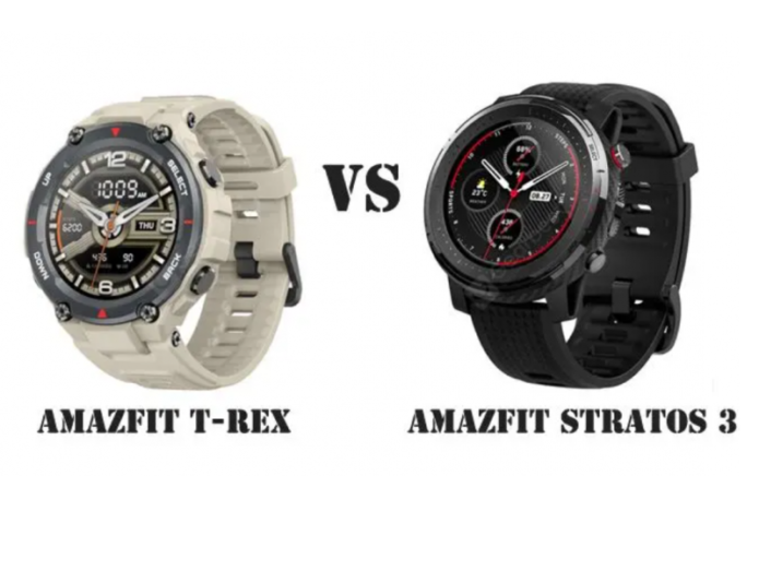 Amazfit T-Rex vs Amazfit Stratos 3, we compare the highest-end smartwatches
