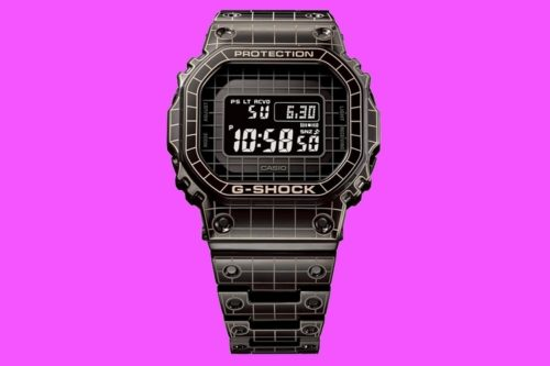 G-Shock's Newest Full Metal Model Gets Time Tunnel Laser Etching For 80's Style Sci-Fi Aesthetics