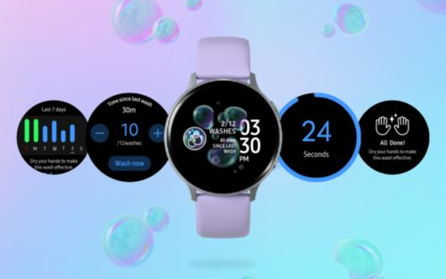 Samsung Galaxy Watch app reminds you to wash your hands again