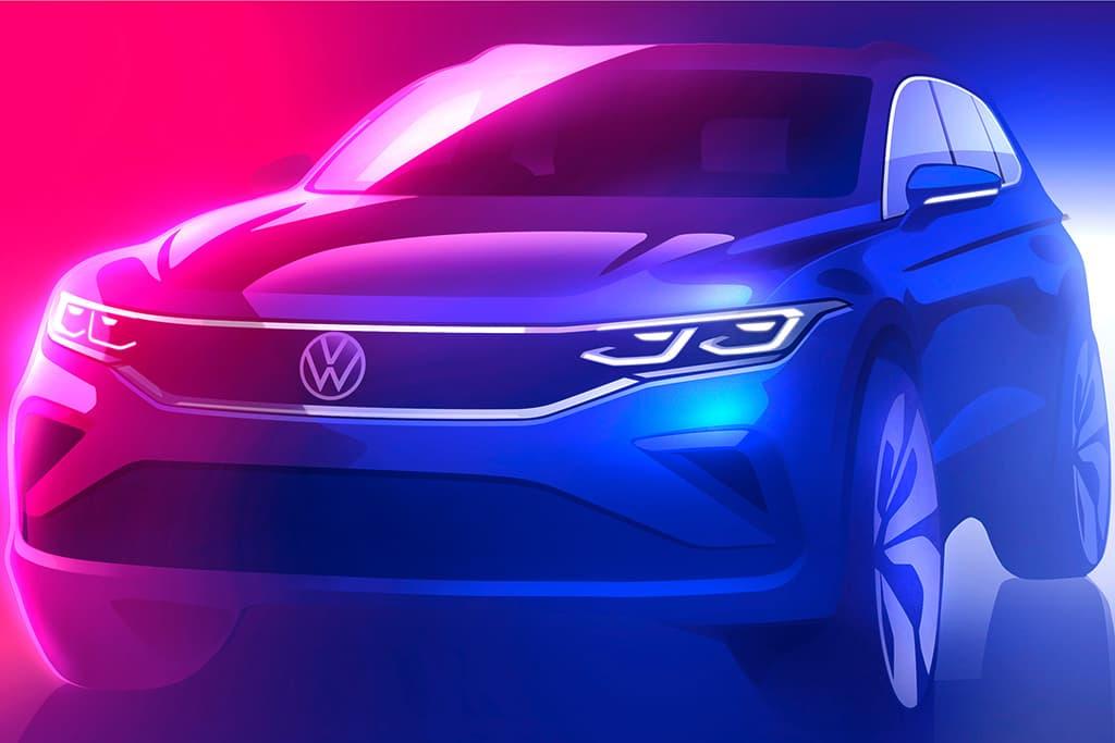 2020 Volkswagen Tiguan facelift previewed