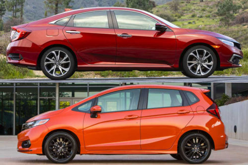 2020 Honda Civic vs. 2020 Honda Fit: What's the Difference?