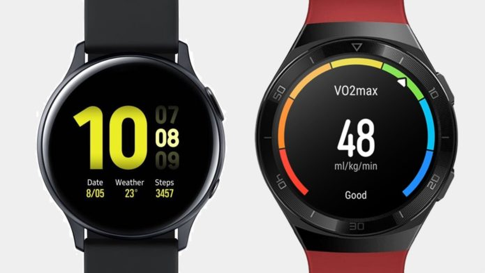 Huawei Watch GT 2e v Samsung Galaxy Watch Active 2 Comparison