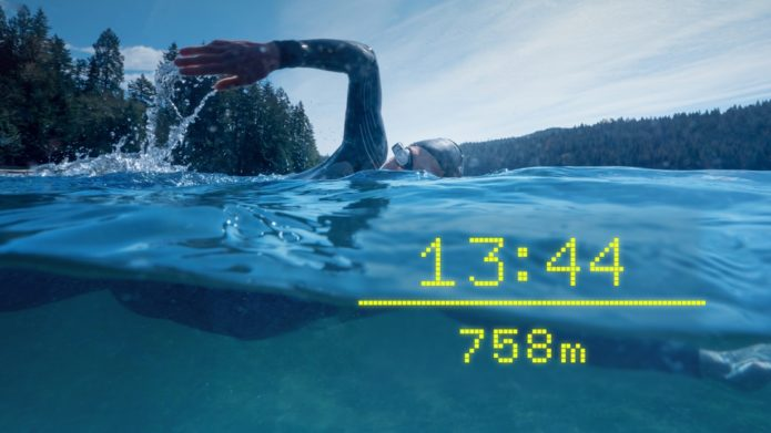 Form AR swim goggles hook up with Apple Watch and Garmin for open water tracking