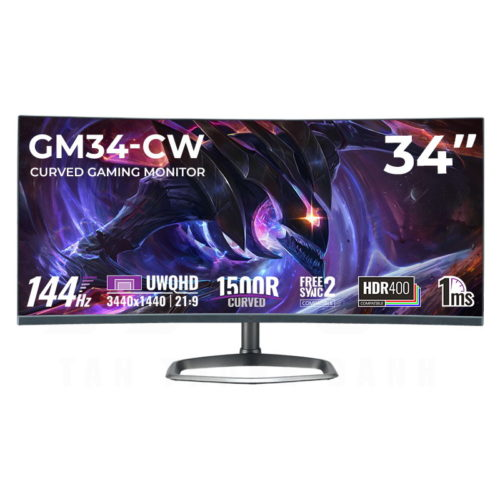 Cooler Master GM34-CW – Cooler Master's First 144Hz Curved Ultrawide Gaming Monitor