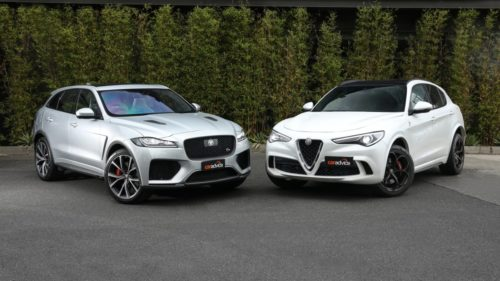 Mega-SUVs from Italy and England square off: Alfa Romeo Stelvio Quadrifoglio v Jaguar F-Pace SVR comparison