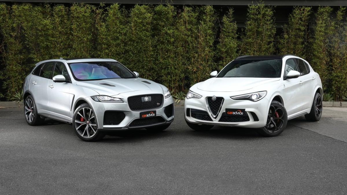 Mega-SUVs from Italy and England square off: Alfa Romeo Stelvio Quadrifoglio v Jaguar F-Pace SVR comparison