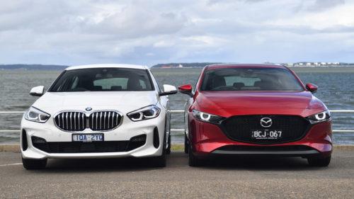2020 BMW 118i v Mazda 3 G25 Astina comparison