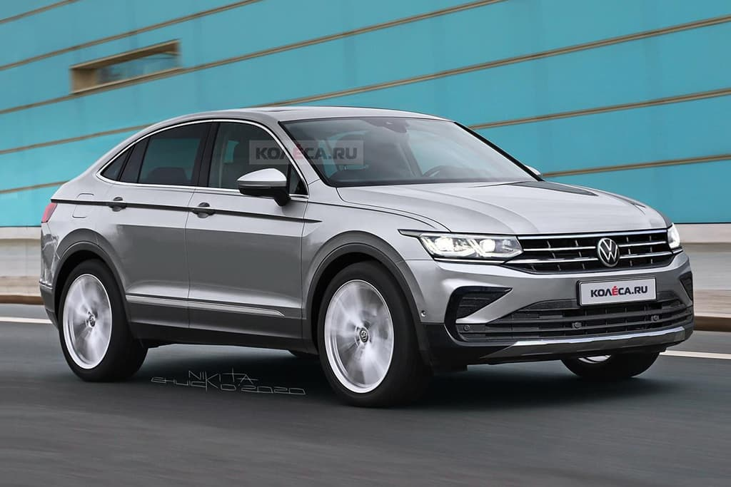 Volkswagen Tiguan Coupe spied and rendered