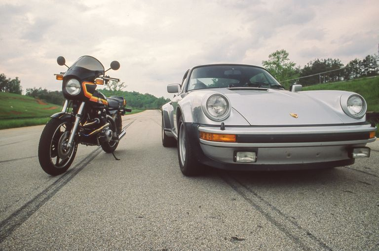 Turbo Car vs. Turbo Bike: 1978 Porsche 911 Turbo vs. Kawasaki Z1-R TC