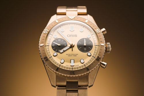 This Chronograph Watch Features the First Swiss-Made, Solid Bronze Bracelet