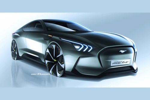 Ford Mach-F sedan imagined