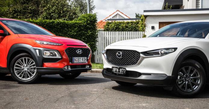 Small SUV comparison: 2020 Mazda CX-30 v Hyundai Kona