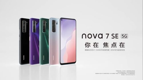 Huawei Nova 7SE 5G vs. Realme x50 5G specs comparison