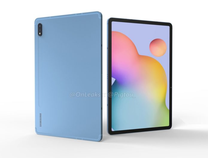 Galaxy Tab S7: Renders confirm the design of Samsung's Q3-bound premium tablets; 5G and 12.4-inch Plus model certified by Bluetooth SIG too