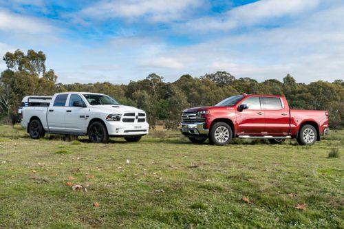 2020 Chevrolet Silverado 1500 LTZ Premium v RAM 1500 Express Crew Comparison