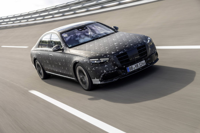 2021 Mercedes-Benz S-Class previews rear-axle steering and E-Active Body Control suspension
