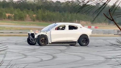 What have Ford Performance and RTR done to this drifting Mustang Mach-E?