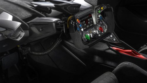 The Lamborghini Essenza SCV12's wheel is a thing of track-focused beauty