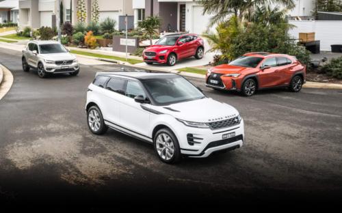 Premium SUV comparison: 2019 Range Rover Evoque v Jaguar E-Pace v Lexus UX v Volvo XC40