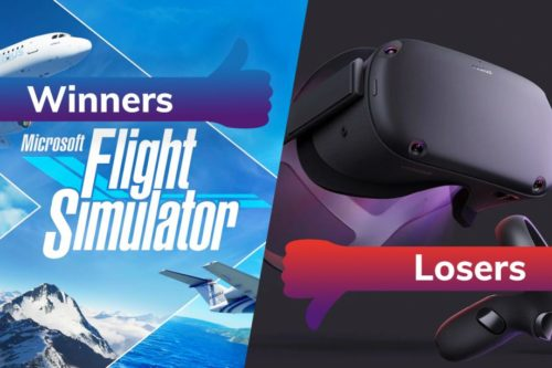 Winners and Losers: Flight Simulator soars while Oculus' Facebook overlords come calling
