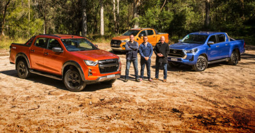 Ute review: 2021 Isuzu D-Max X-Terrain v Toyota HiLux SR5 v Ford Ranger Wildtrak comparison