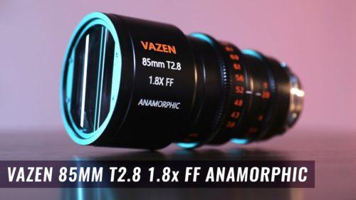 Vazen announces an $8,000 85mm T2.8 1.8x anamorphic lens for PL, EF mount cameras