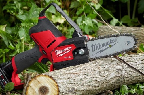 Milwaukee M12 Fuel Hatchet Is A Mini-Chainsaw For Limbing, Pruning, And Other Landscaping Tasks