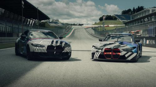 New BMW M4 Coupe and M4 GT3 prototype appears at the Red Bull Ring