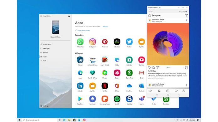 Windows Your Phone Apps Feature: what you need to know