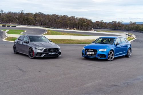 2020 Mercedes-AMG A45 S 4MATIC+ v 2020 Audi RS 3 Sportback Comparison