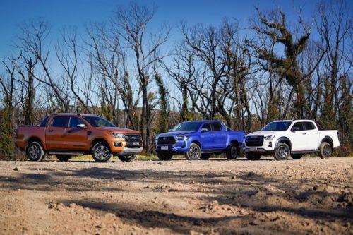 2020 Ford Ranger Wildtrak Bi-Turbo v Isuzu D-MAX X-Terrain v Toyota HiLux SR5+ Comparison