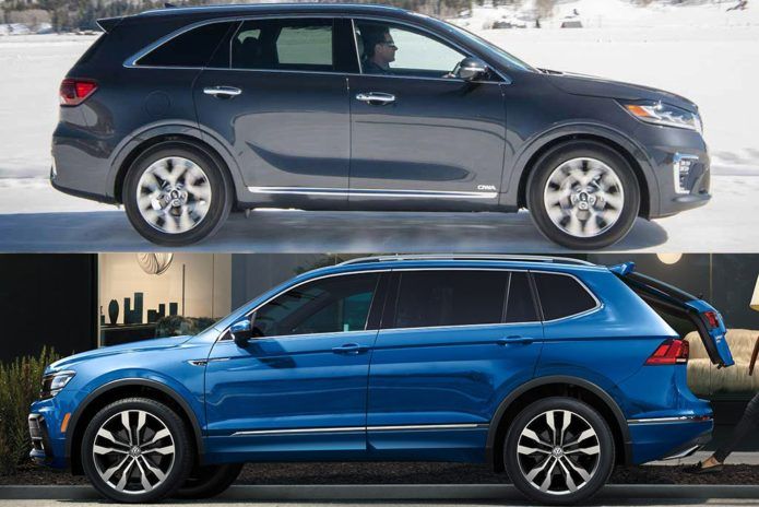 2020 Kia Sorento vs. 2020 Volkswagen Tiguan: Which Is Better?