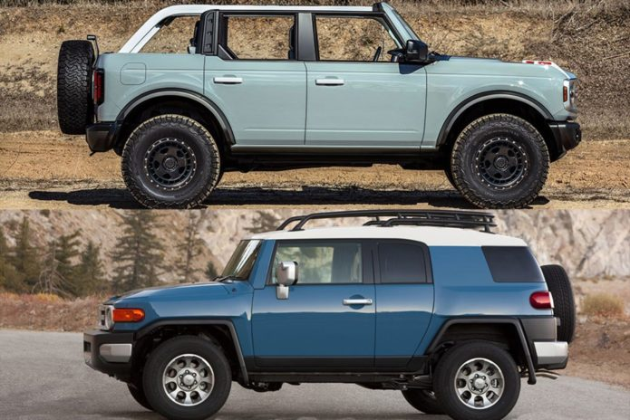 2021 Ford Bronco vs. Used Toyota FJ Cruiser: Which Is Better?