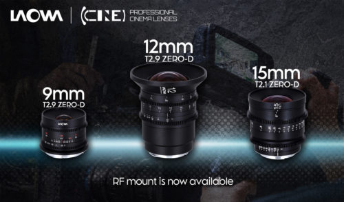 Venus Optics brings its Laowa 9mm T2.9, 12mm T2.9 and 15mm T2.1 cine primes to Canon RF mount