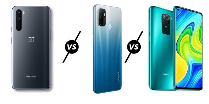 OnePlus Clover vs Oppo A53 vs Redmi Note 9