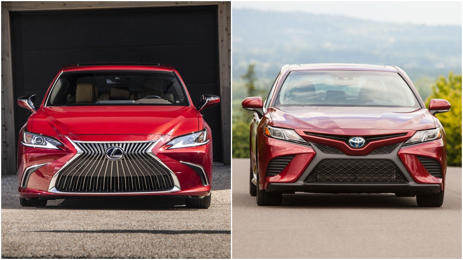 2020 Lexus ES Hybrid vs. 2020 Toyota Camry Hybrid: What's the Difference?