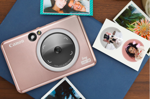 Canon's Ivy Cliq+ 2 instant camera can print circular stickers