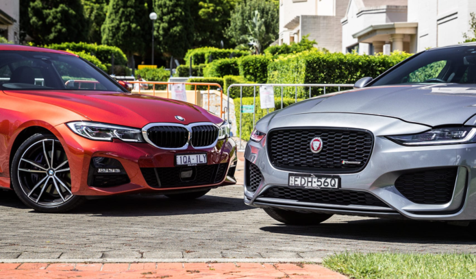 2020 BMW 330i v Jaguar XE HSE comparison review: Premium sedans - BMW's new 3 v the Jag XE