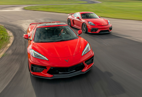 Tested: 2020 Chevrolet Corvette Z51 vs. Porsche 718 Cayman GT4