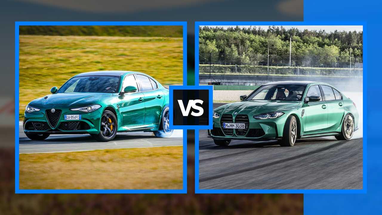 BMW M3 Comp Vs Alfa Romeo Giulia Quadrifoglio: Sports Sedan Showdown
