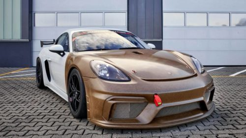 Porsche shows off new racecar body kit made from renewable raw materials