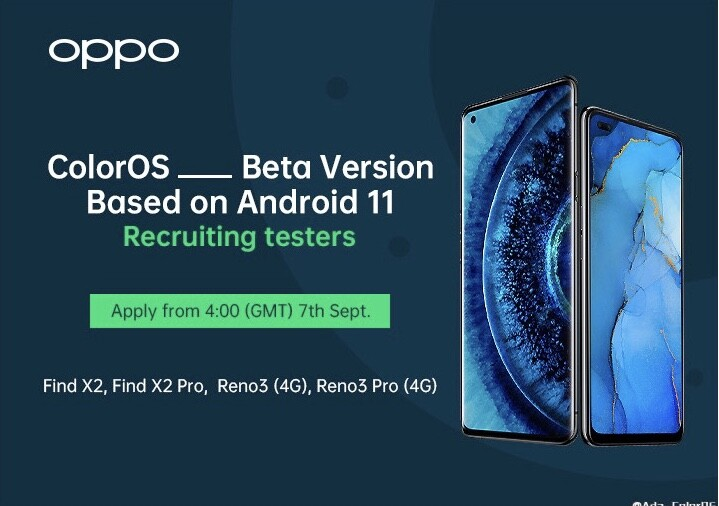 Oppo is beta testing Android 11 ColorOS 8 on the Find X2, Find X2 Pro, Reno3 and Reno3 Pro: official ROM could arrive on Android 11 launch day