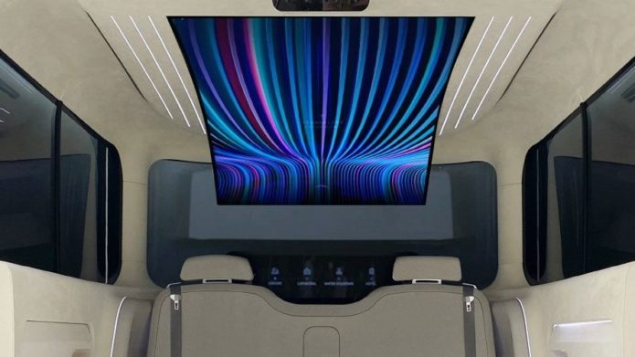 LG and Hyundai's new in-car concept features a flexible, 77-inch OLED display