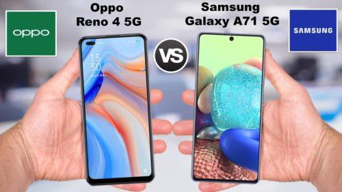 OPPO Reno4 vs Galaxy A71 – Specs War