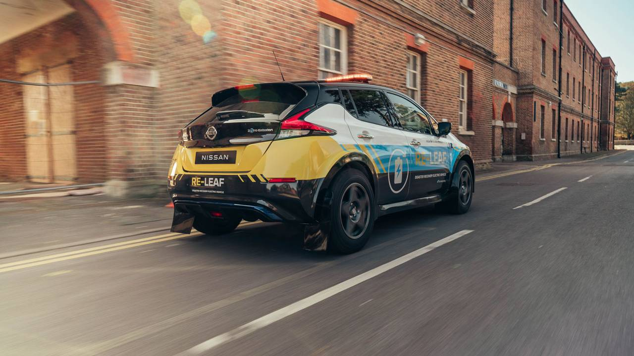 Nissan RE-LEAF is an all-electric emergency response vehicle