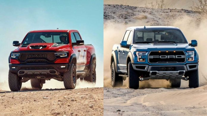 2021 Ram 1500 TRX vs. 2020 Ford F-150 Raptor: Which is Better?