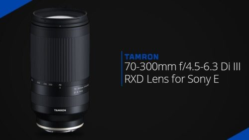 Tamron 70-300mm f/4.5-6.3 Di III RXD lens for Sony E-mount (model A047)
