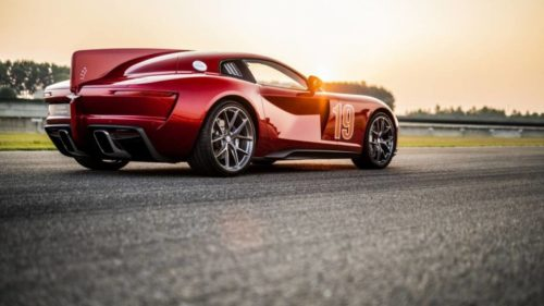 Touring Superleggera Aero 3 features retro styling cues and a Ferrari's heart