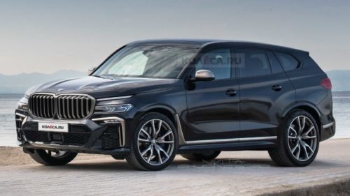 2022 BMW X8 Rendered With Strange Headlights As Seen In Spy Shots