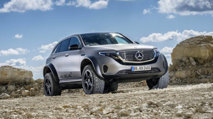 Mercedes turned its cushy electric SUV into an epic jacked-up off-roader